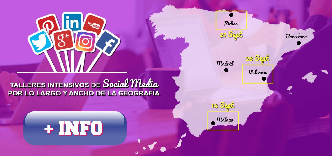Talleres Social Media Málaga Bilbao Valencia